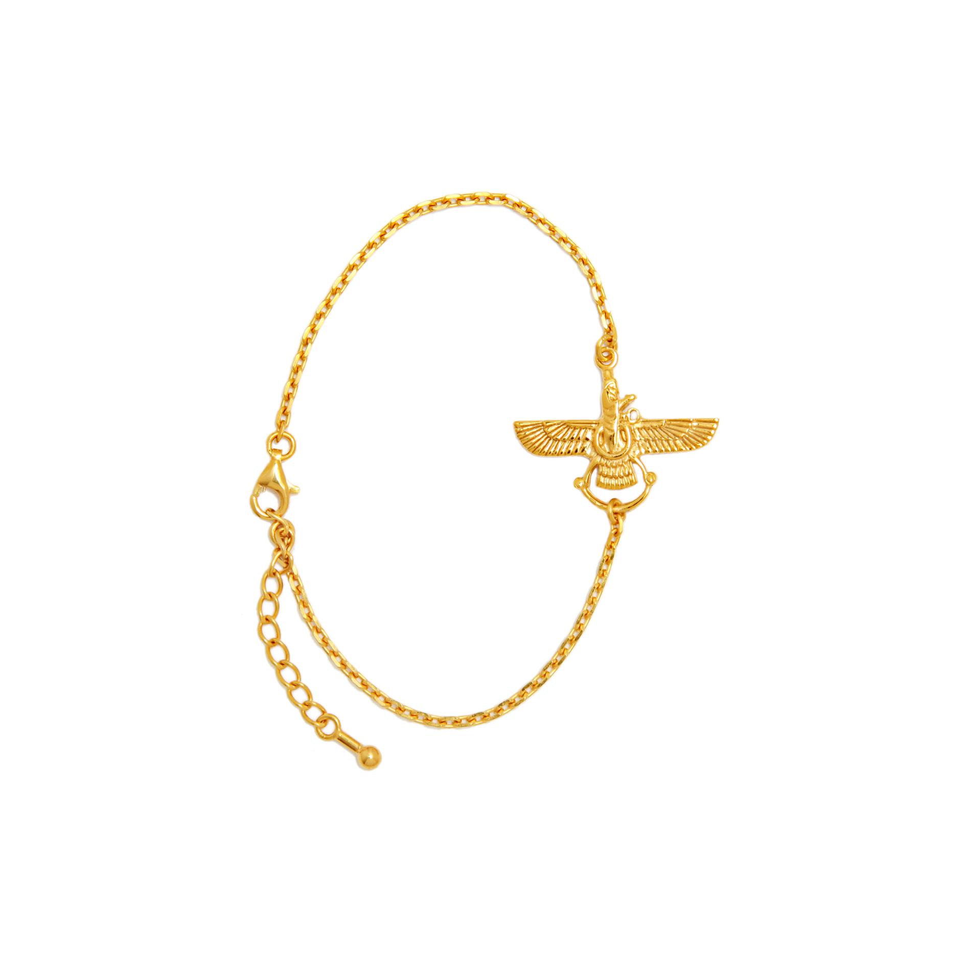 Farvahar bracelet gold