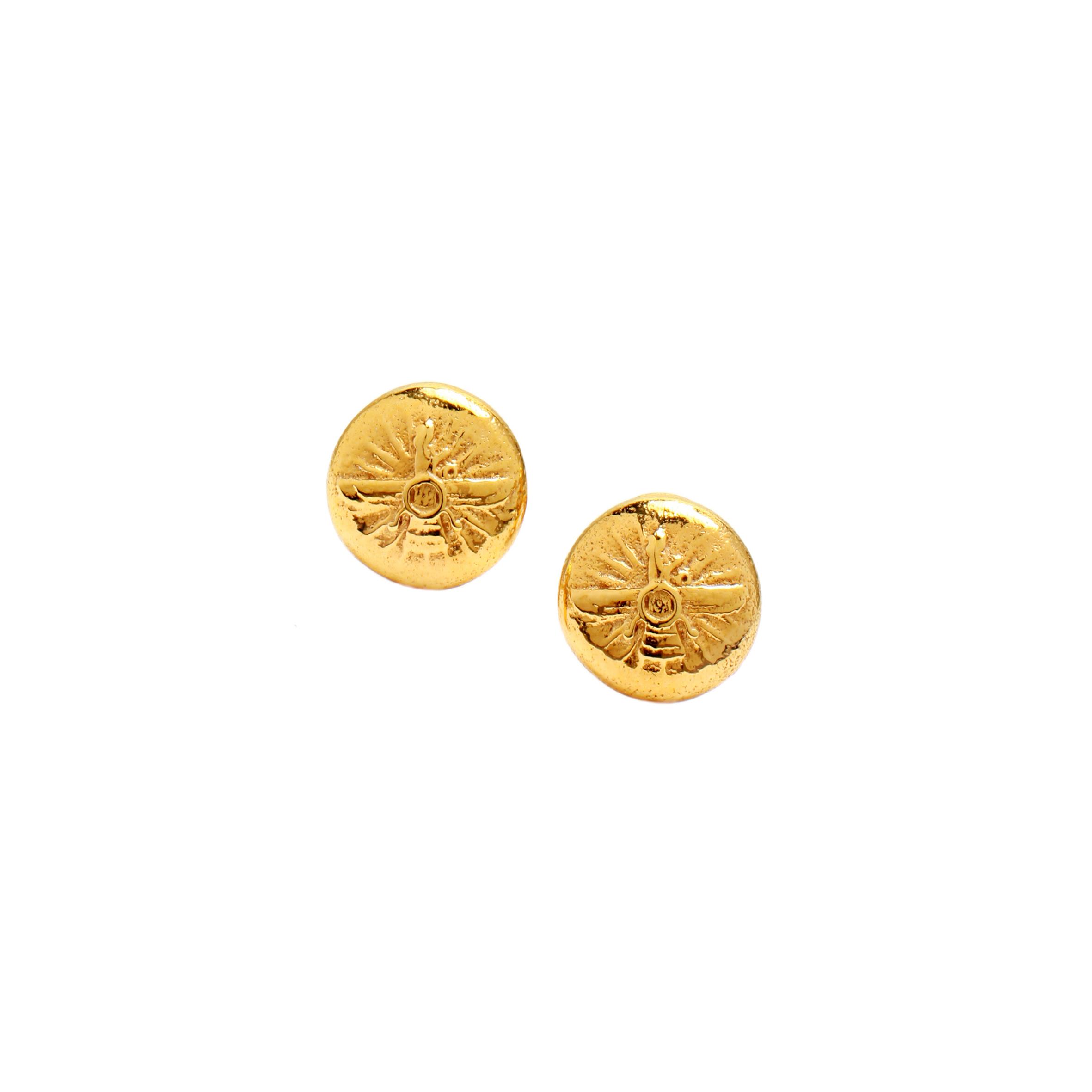 Farvahar buton earring1